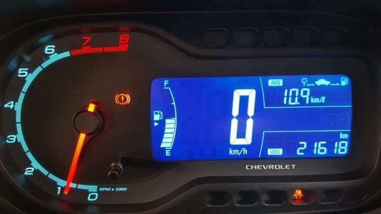 Ilustrasi Speedometer Mobil Digital