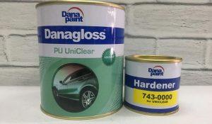 Selanjutnya ada merk Danagloss. Merek yang satu ini memiliki kualitas yang tinggi. Hal tersebut disebabkan oleh karena biasanya merk ini digunakan oleh industry otomotif dalam bidang body repair.